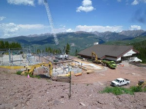 Vail gondola construction