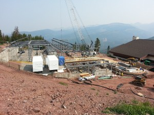 Mid-vail gondola construction