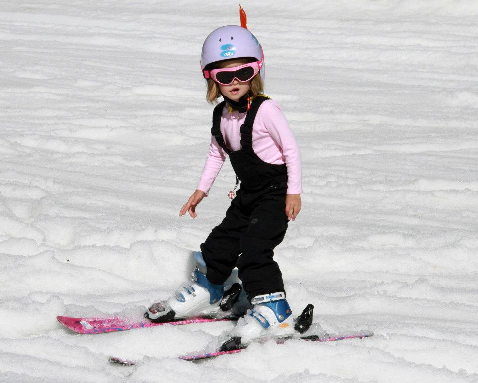 At what age can a child learn to ski