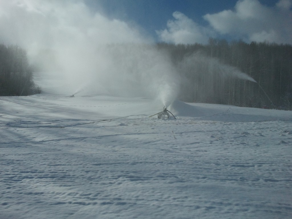 Vail's snowmaking guns