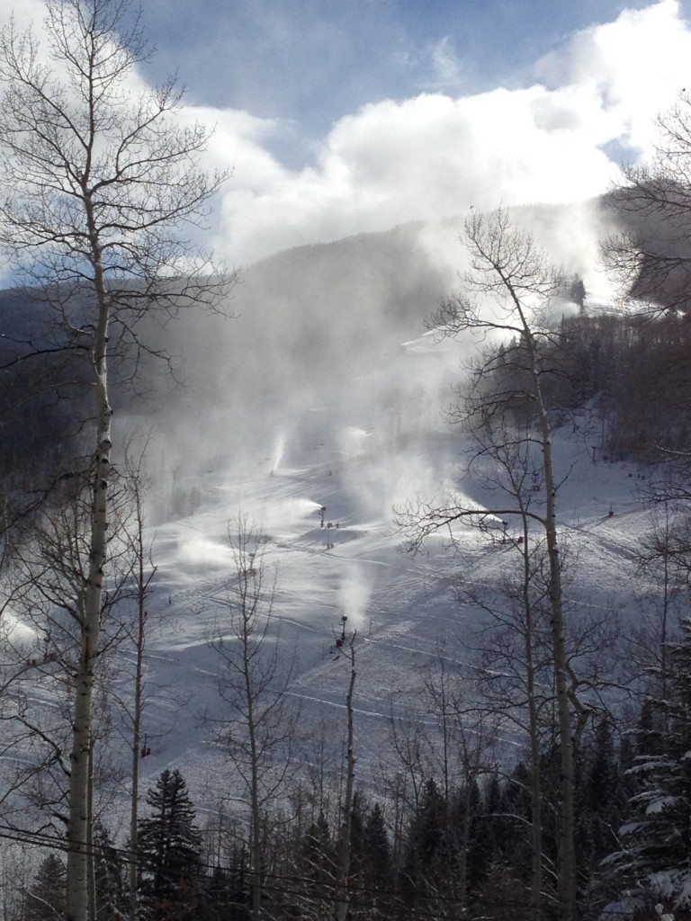 Vail Golden Peak snowmaking