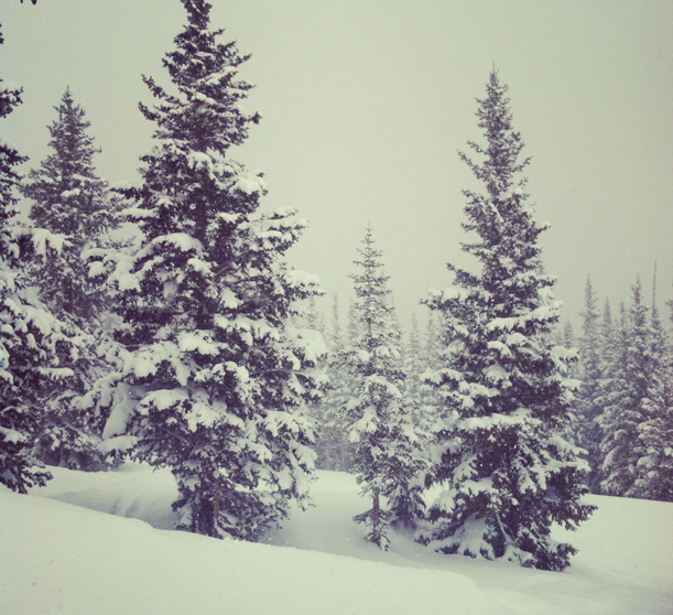 Snowy day in Vail, Colorado