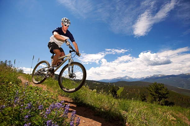 Mountain bike trails on Vail Mountain