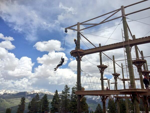 Ropes course on top of Vail Mountain