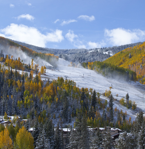 Early season snowmaking at Vail