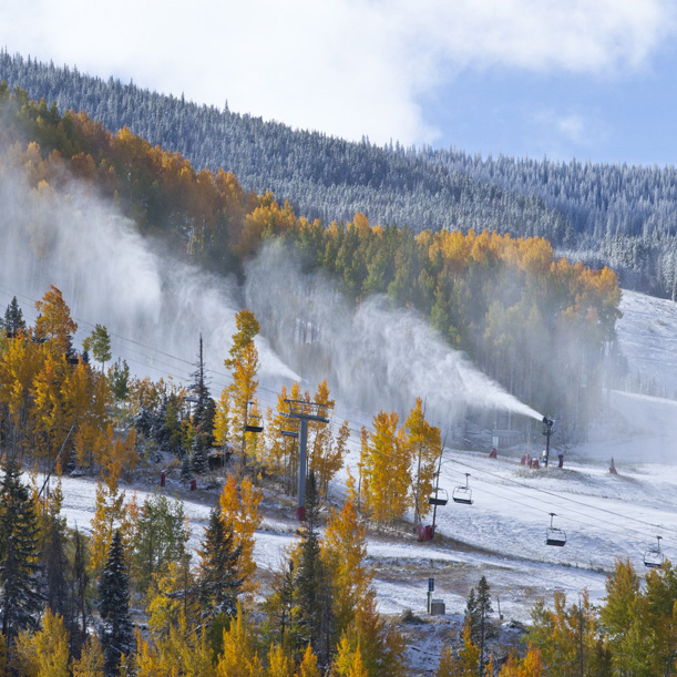 Early season snow at Vail