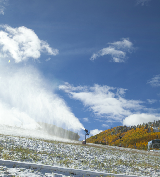 Snowmaking in Vail, Colorado