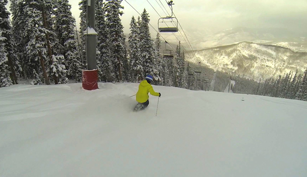 Snow conditions at Vail