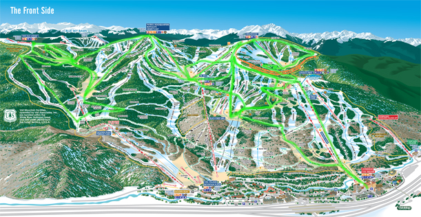 Vail Back Bowls 2013-14 Map