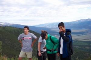 Hiking with the Colorado College Tigers during my first summer in Colorado. (I'm the skinny dude on the left.)