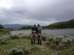 Benjamin, and his fly fishing guide, Alex.