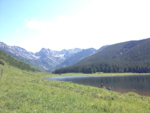 The view of the Gore Range at Piney Lake might be the best in the Vail Valley.