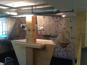 The climbing wall at the Vail Vitality Center in the Mountain Lodge and Spa.