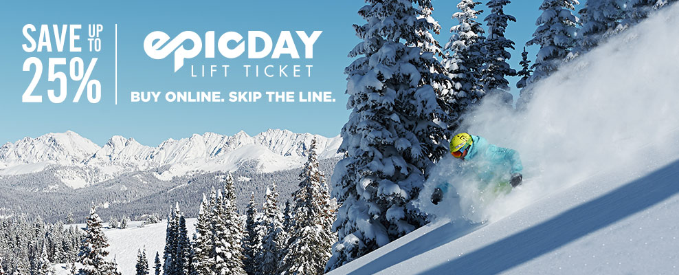 Buy lift tickets online in advance