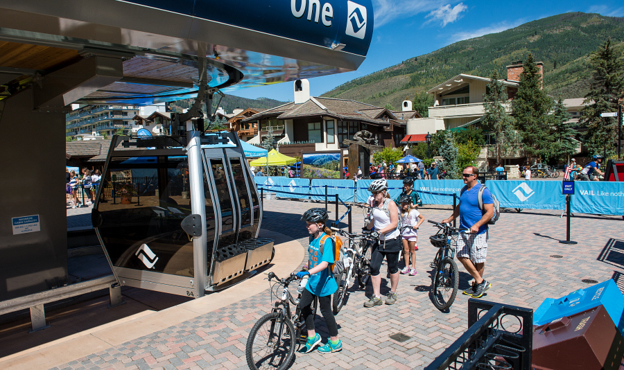 Mountain biking on Vail Mountain